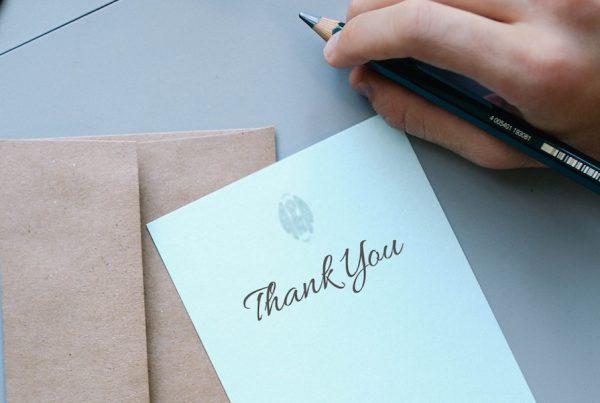lettre de gratitude