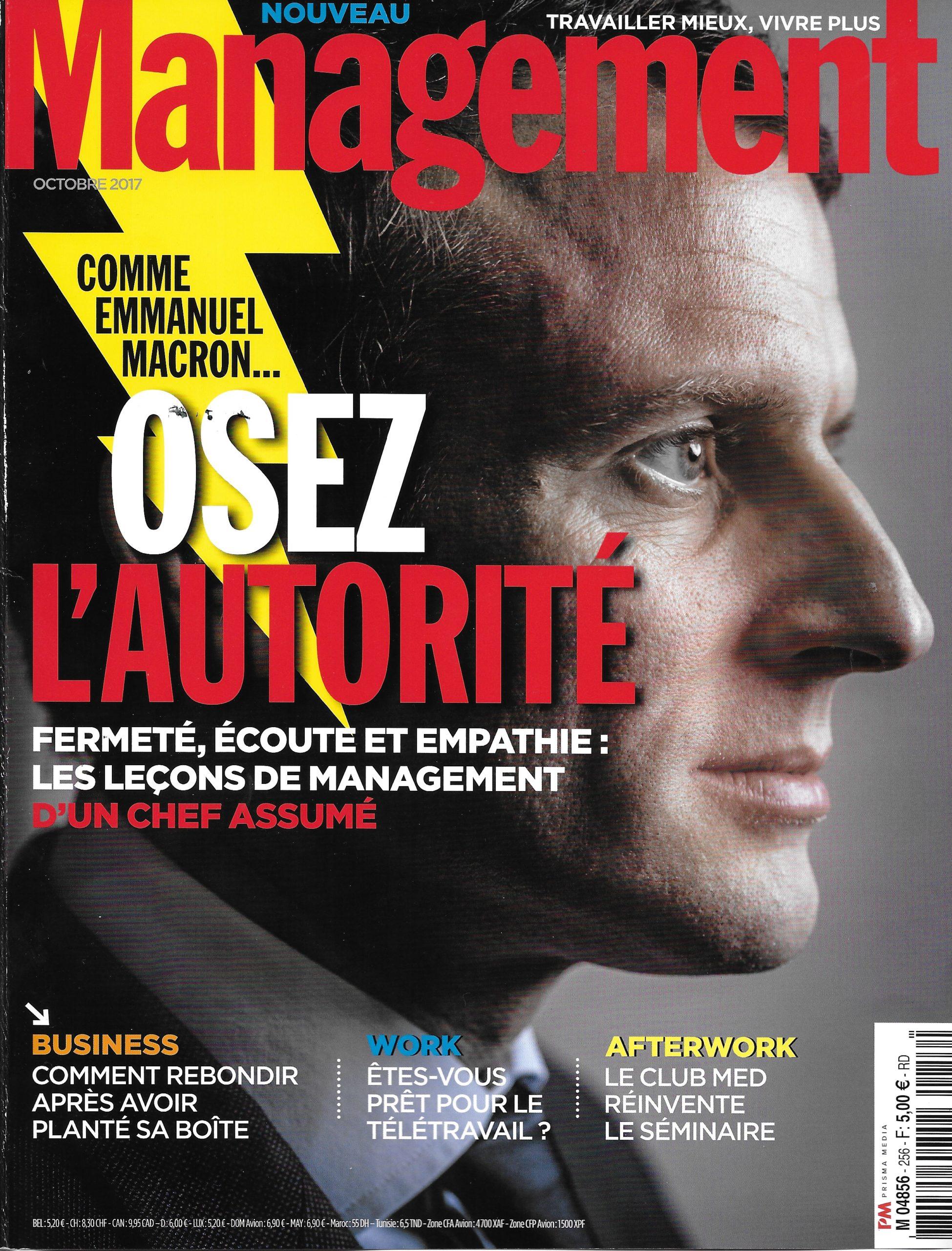 On parle de l'Institut dans le magazine Management sept 17
