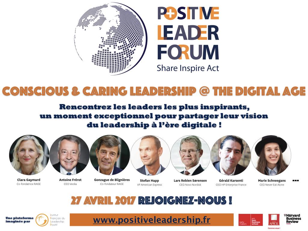 Rejoignez-nous au 1 er Positive Leader Forum, le 27 avril à Paris !