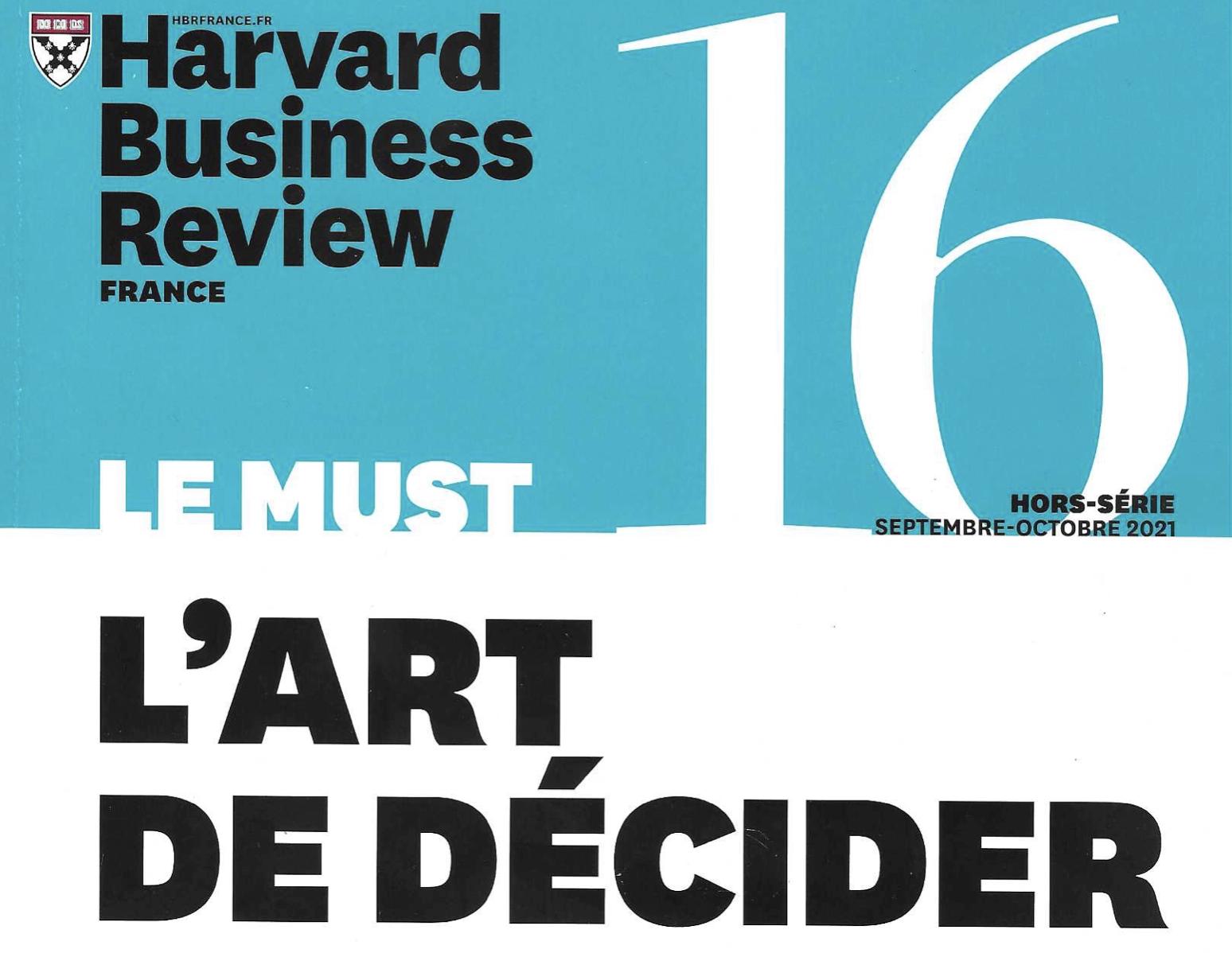 Leader positif et biais cognitifs dans Harvard Business Review oct 2021